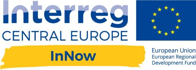 Grafika przedstawia logo projektu InNOW (Interreg Central Europe)
